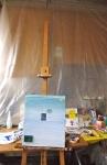 Compagnonnage d'art, peinture acrylique, atelier d'artistes