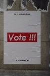 Voter, street art, photo, affiche, Paris