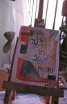 Artiste, compagnonnage d'art, peinture acrylique, Carrosse